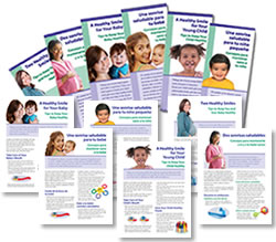 image showing collage of covers for Healthy Smile Brochures