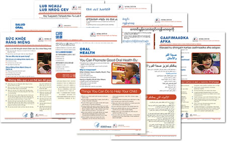 image showing collage of covers for Health Tips for Families