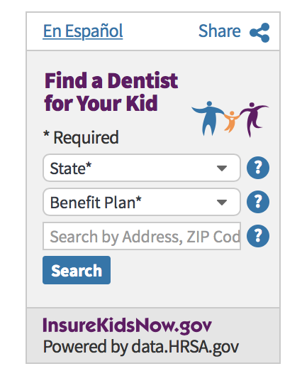 Insure Kids Dental Care Providers Widget