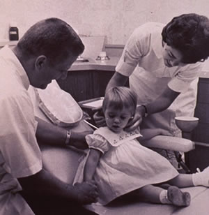 Child receiving oral health care. Reproduced  with permission from the American Dental Association. All rights reserved.